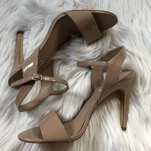 Steve Madden nude patent leather heels